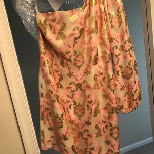 One shoulder lily pullitzer cocktail dress